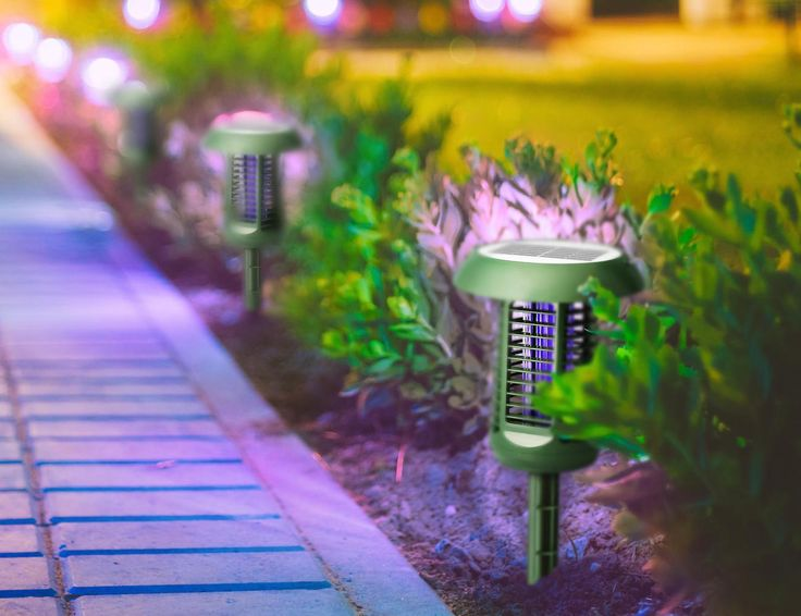 Say goodbye to those flies and mosquitoes while you camp outdoors with the help of this Solar-Powered UV Bug Zapper & LED Garden Lamp.