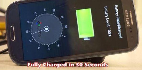 Crean Una Batería Para Celular Que Se Recarga En 30 Segundos