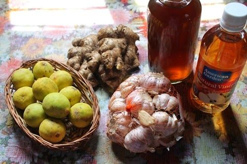 Secret Recipes : Heart Blockage Cure / Apple Cider Vinegar, Honey, Lemon, Ginger & Garlic Drink - Natural Home Remedy for Heart…