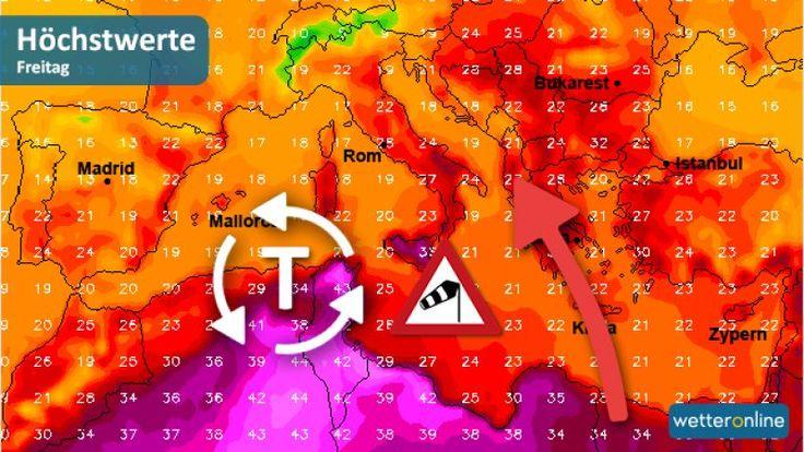 Do Európy sa valí tropický vietor Sirocco