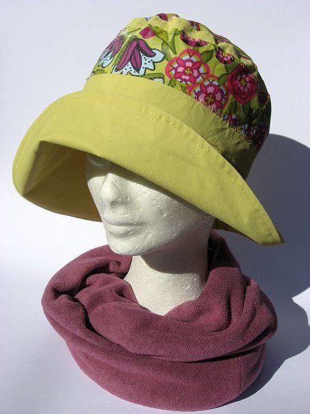Hüte - leichter Regenhut Senf-Gelb - ein Designerstück von Janecolori bei…