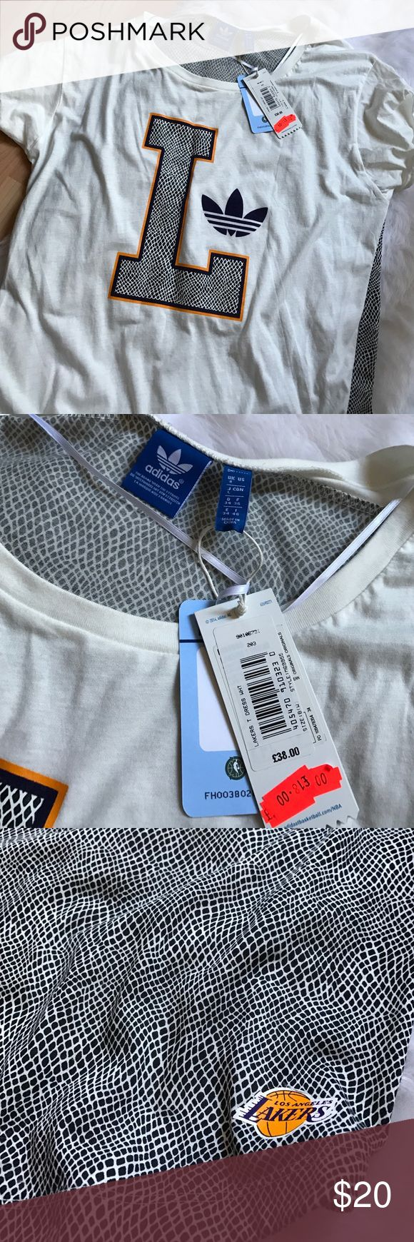 Adidas la lakers shirt new with tag New with tag size UK8 Adidas Tops Tees - Short Sleeve