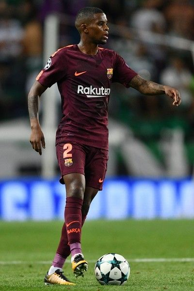 Nelson Semedo of FC Barcelona in action during the UEFA Champions League group D match between Sporting CP and FC Barcelona at Estadio Jose Alvalade on September 27, 2017 in Lisbon, Portugal.