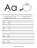 Free alphabet tracing worksheets for every letter of the alphabet!