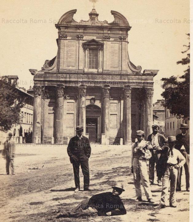 Foro Romano - Tempio di Antonino e Faustina 1860