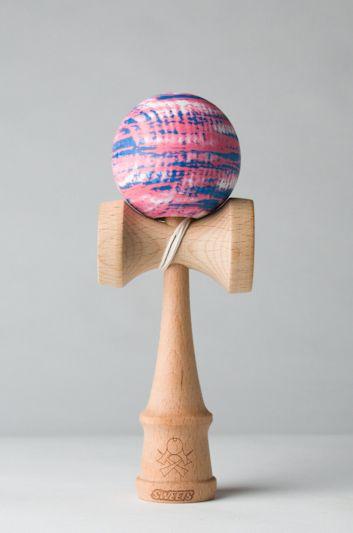 kendamas | Pink-Blue Matte Marble (main)