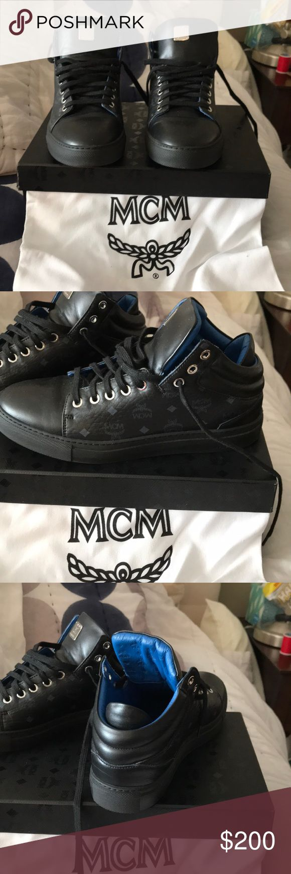 MCM sneakers black black MCM sneakers women's size 39 excellent condition MCM Shoes Sneakers