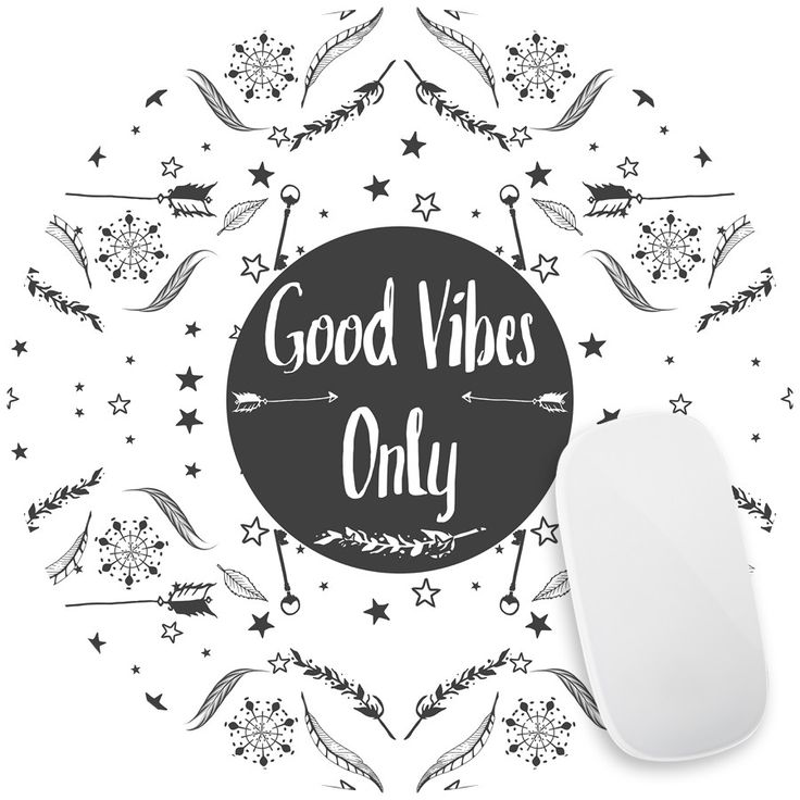 Good Vibes II Mouse Pad Decal