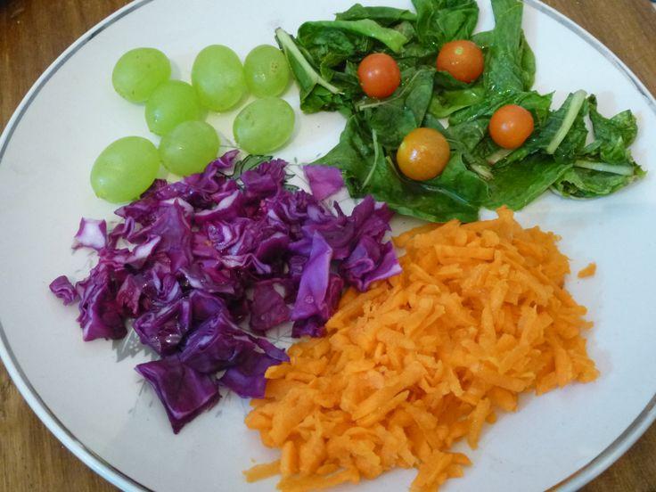 Rainbow-colored Salad