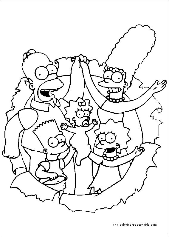 45 best coloring pages (the simpsons) images on pinterest ... - Printable Simpsons Coloring Pages
