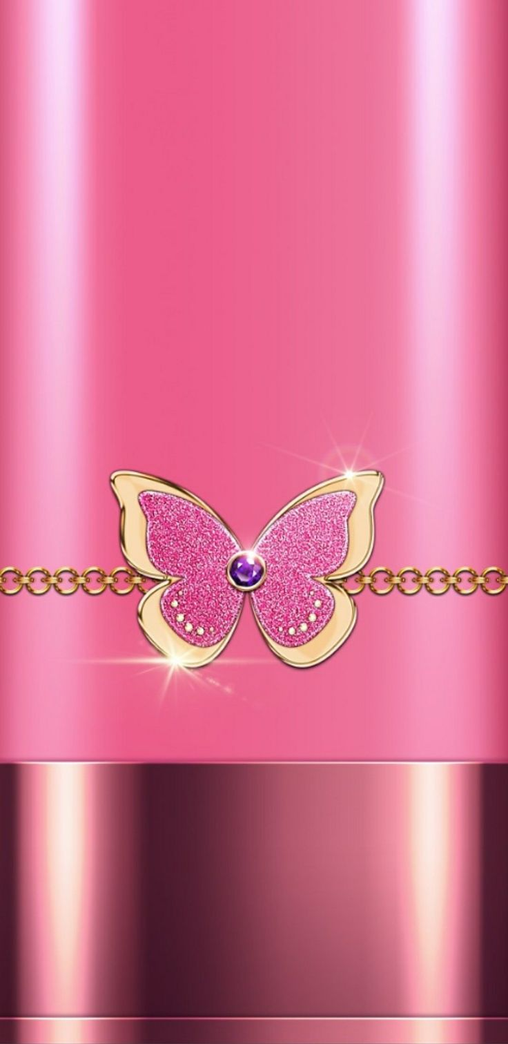 pink butterfly phone wallpaper