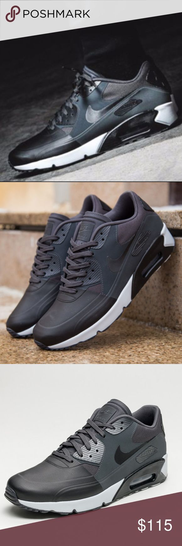 Men's Nike AIr Max 90 Ultra 2.0 SE Size 9.5 -Brand New in Box -100% Authentic -Excellent Condition -Size 9.5 Men -Black Grey Colorway   -Lace closure  -Men's low top sneaker  -Leather upper  -Nike swoosh branding  -Max air unit -*Fit: True to size Nike Shoes Sneakers