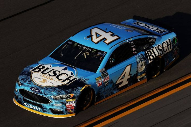 Kevin Harvick on track in his No. 4 Busch Beer Ford Fusion for the first Monster Energy #NASCAR Cup Series practice of the season.