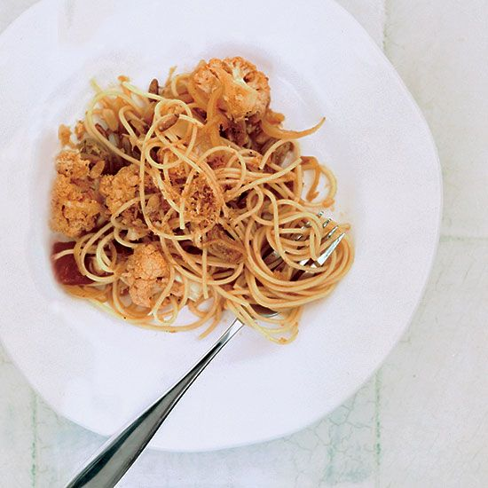 """Spaghetti with Cauliflower 