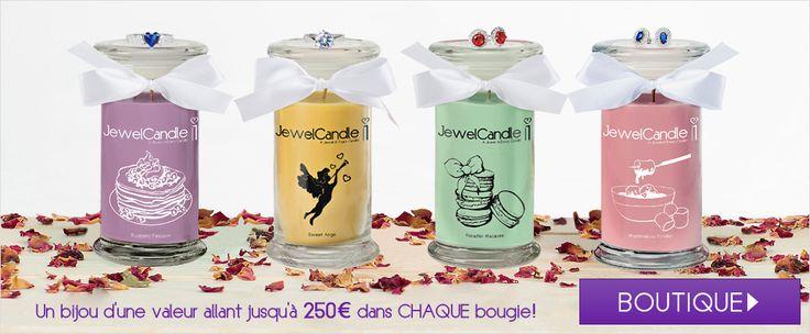 Bougie parfumée + Bijou = JewelCandle ♥ Surprise et émerveillement garantis! Gâtez-vous avec sa délicieuse odeur et son joli bijou en argent 925 Sterling.