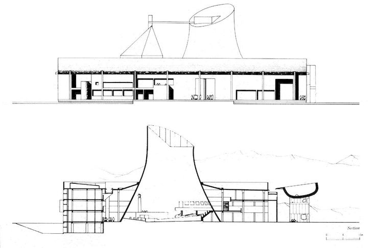 Candigarh Section and Elevation, Le Corbusier