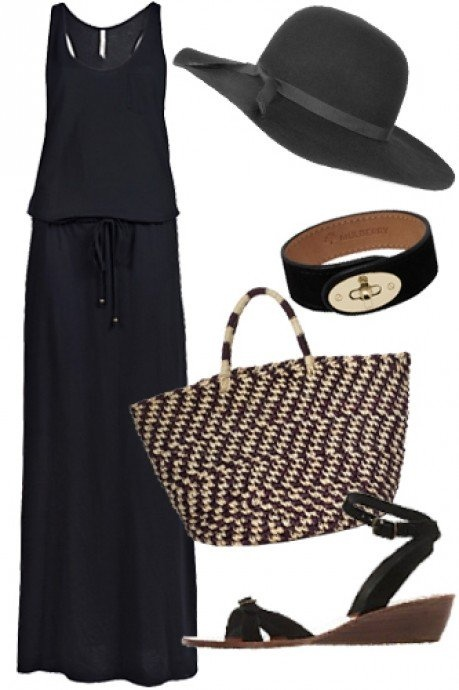 All black chic for summer