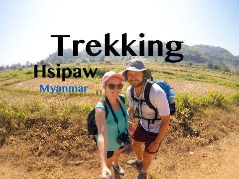 Hsipaw Trekking | Myanmar Trek | The Married Wanderers | Travel GoPro Vlog