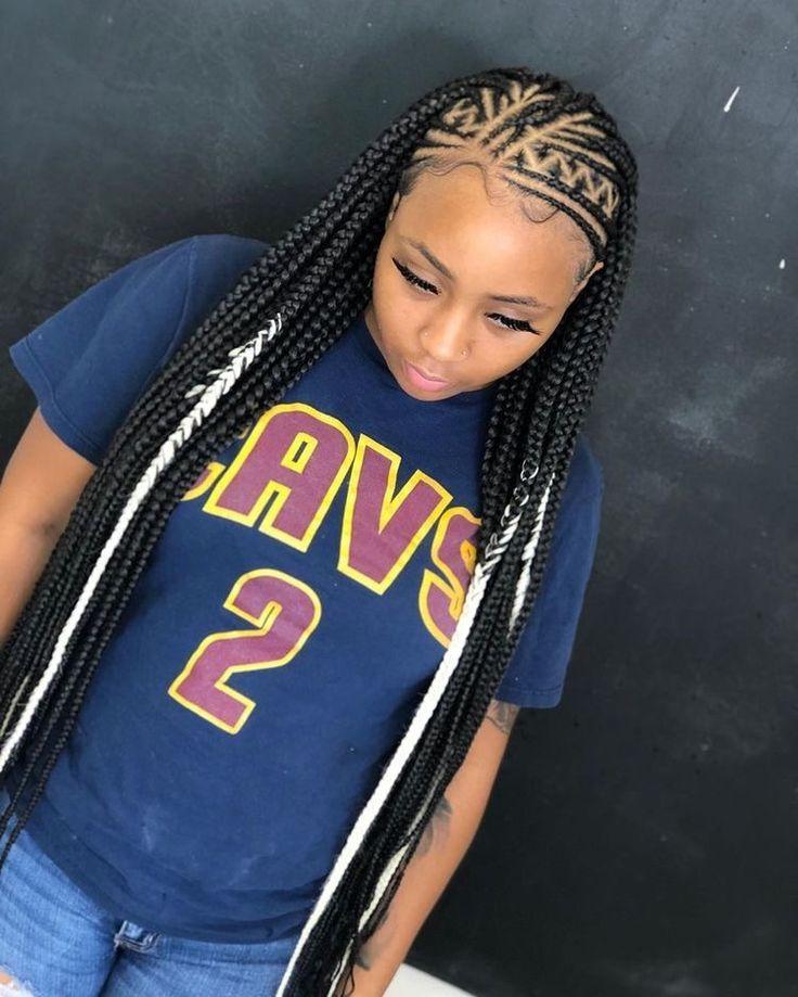 Hairstyles Plaits Black in 2020 | Black girl braided ...