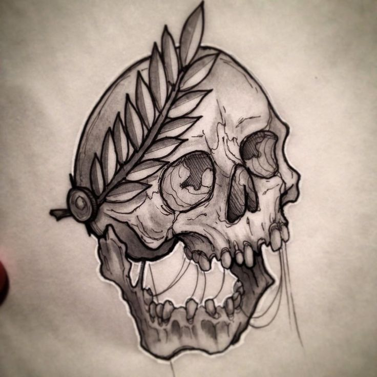 #skull #art #drawing #tattoo #flash #neotraditional # ...
