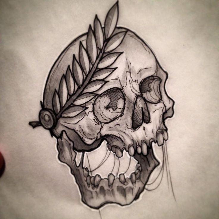 Traditional Flash Skull Tattoos: #skull #art #drawing #tattoo #flash #neotraditional