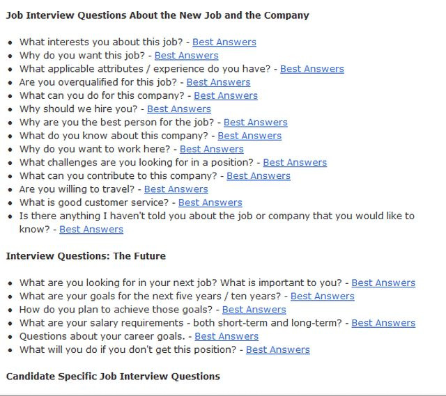 Practice Interview Tips and Techniques: General Interview Questions