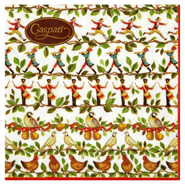 12 Days of Christmas Paper Napkins