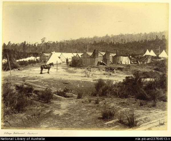Village settlement - Southport - (boy, these people were resilient). National Library of Australia
