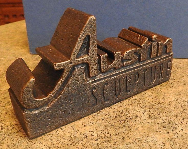 #art VERY RARE Austin Sculpture Gallery Display Brand Marker, One of a Kind? please retweet