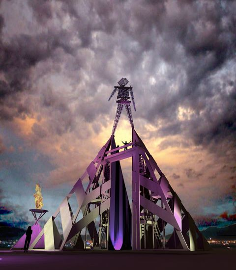 I kinda want to go to the Burning Man Festival -- promoting interactive community art
