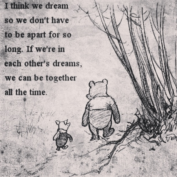 You'll never have to be alone again. Dreams are a wonderful thing!