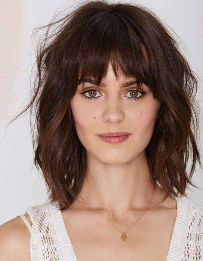 Cheveux ondulés avec frange 2016 Beauté Coupe cheveux