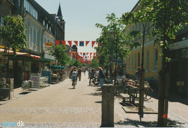 arkiv.dk   Gågaden, Danmarksgade, i Frederikshavn 1990