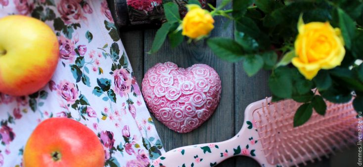 """Купить Мыло """"Нежность"""" - розовый, мыло нежность, мыло сердце из роз, мыло сердечко"""