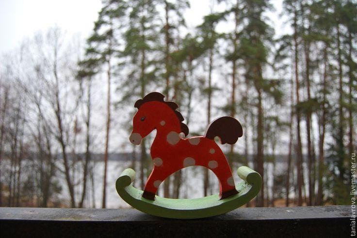 Купить Лошадка-качалка деревянная (детская игрушка) - лошадка, качалка, лошадка-качалка, лошадь деревянная