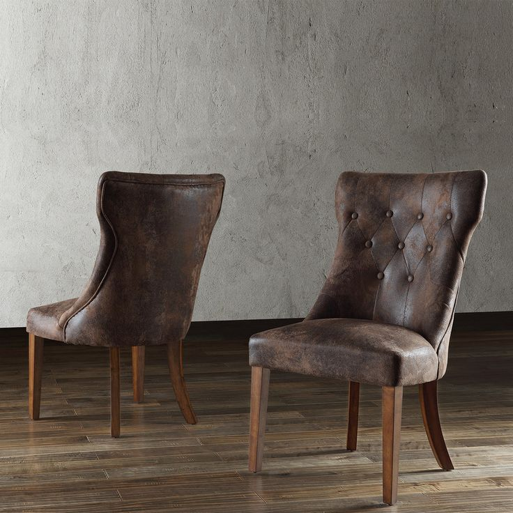 Atelier Traditional French Burnished Brown Oak Dining Chair (Set of 2) | Overstock.com