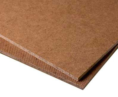 HARDBOARD- also known as high-density fiberboard. Although hardboard is  similar to particleboard and medium-density fiberboard, it is much more den