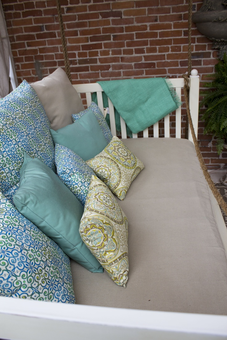 Victorian Outdoor Pillows : Custom made pillows in outdoor fabrics~ KC Symphony Showhouse Pinterest Outdoor, Pillows ...