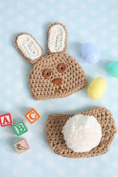 CROCHET PATTERN - Bunny Hop Baby Set