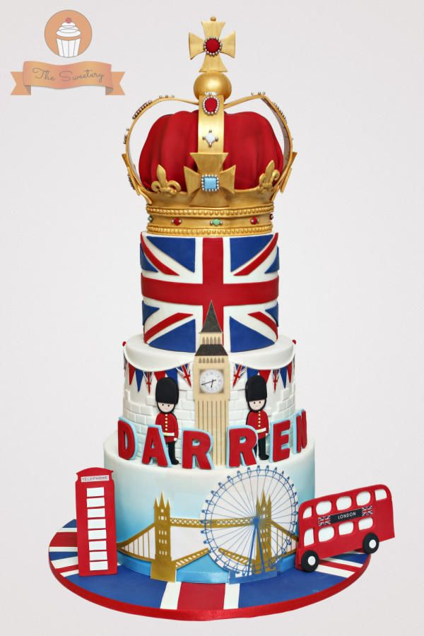 London themed cake - Cake by The Sweetery - by Diana
