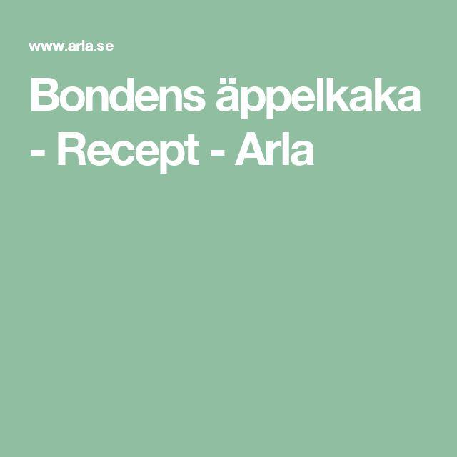 Bondens äppelkaka - Recept - Arla