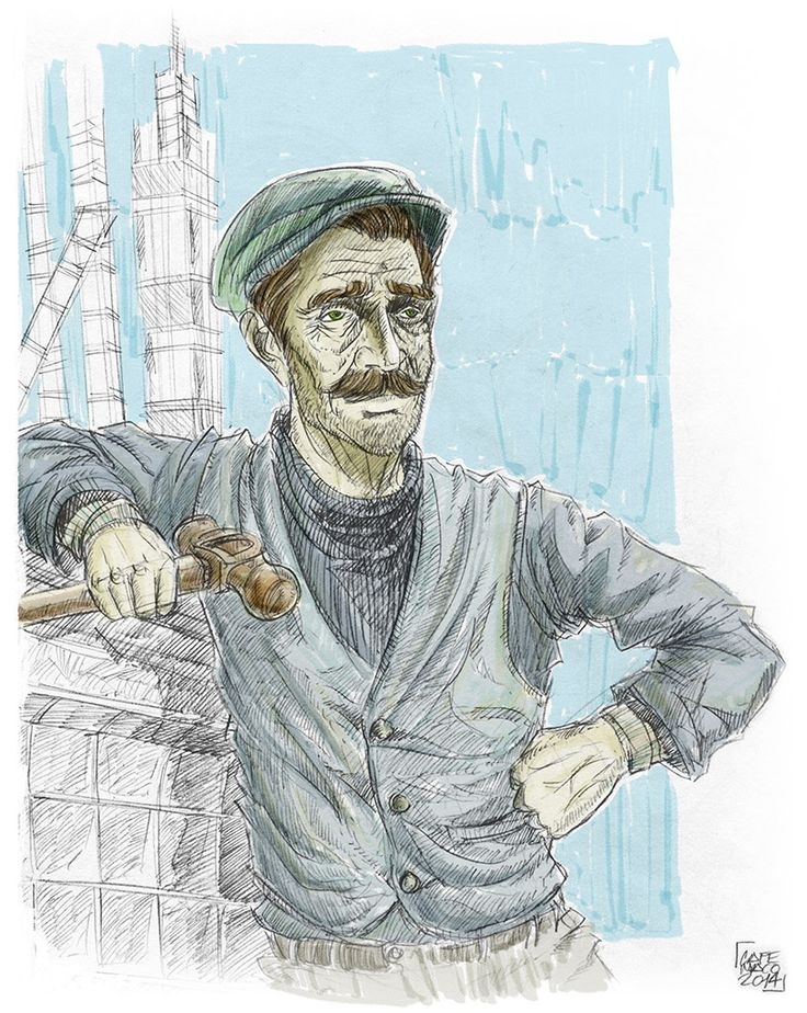 Dock Worker. ©2014 Carlos Martínez / / / cafemaco.tumblr.com