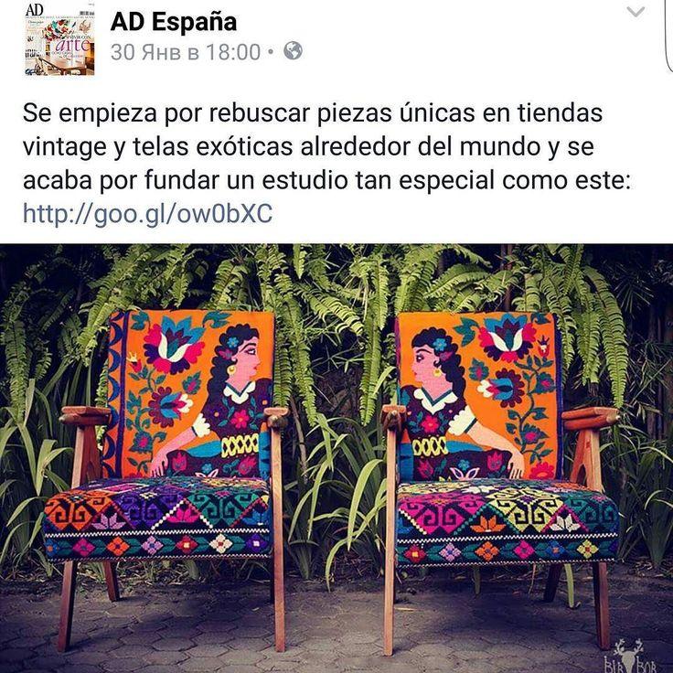 AD Spain talks about us #birbor #article #admagazine #spain #интерьер  #ad #shooting #furnitureporn #art #decor #etsy #girls #beauty #showroom #folk #upholstery #мебель #винтаж #этнический #декор #кресла #сделановмск by birbor
