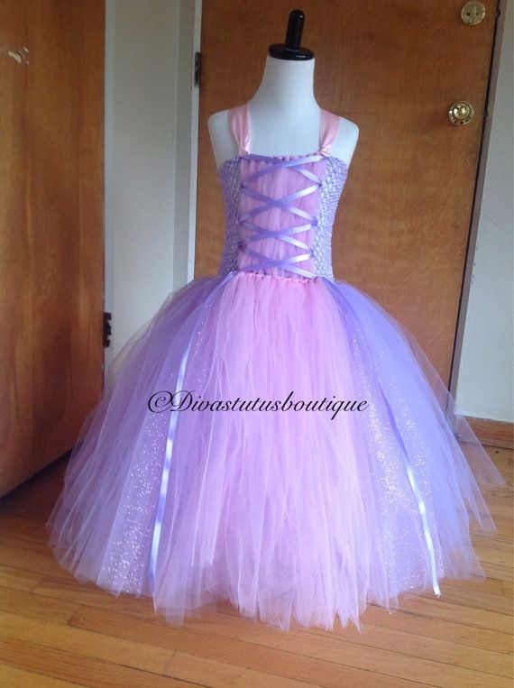 Rapunzel tutu dress/ tangled/ Rapunzel by Divastutusboutique