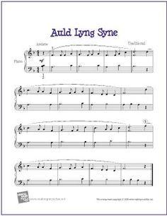 New Year free piano sheet music - Google Search