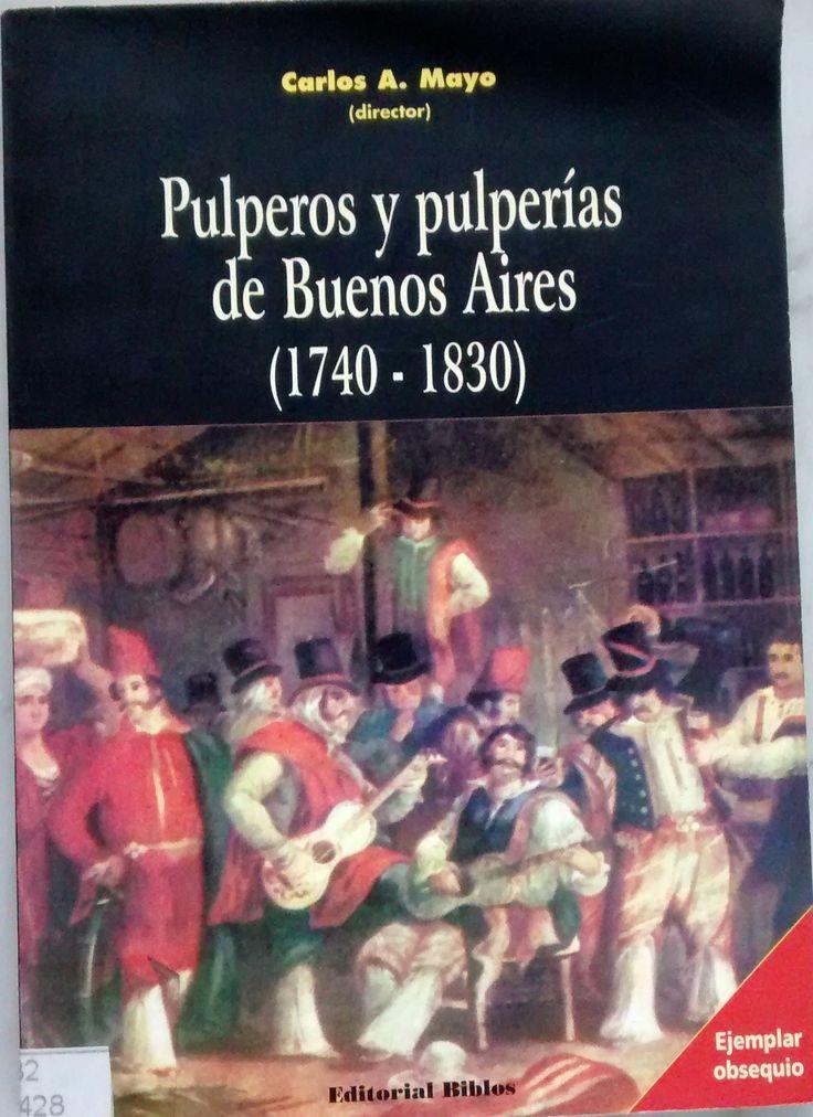 En biblioteca. ¿Cómo comerciaban los pulperos? ¿Qué productos vendían? ¿La pulpería era una empresa? ¿Cómo funcionaba? ¿Cómo era la casa donde funcionaba la pulpería urbana? El período elegido (1740-1830) es crucial en la historia de la Argentina y de la ciudad de Buenos Aires. De capital virreinal y sede de un aparato mercantil pasó a ser el centro del proceso emancipador. Este proceso político y económico puede ser visto a través de las pulperías que poblaban la ciudad y la campaña.