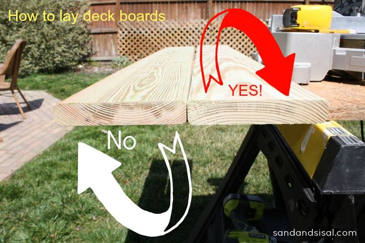 How to lay deck boards- A Woman's Guide to Deck Repair. Forget the workman! GIRL DIY POWER! I forget to check half the time, until my project warps :(