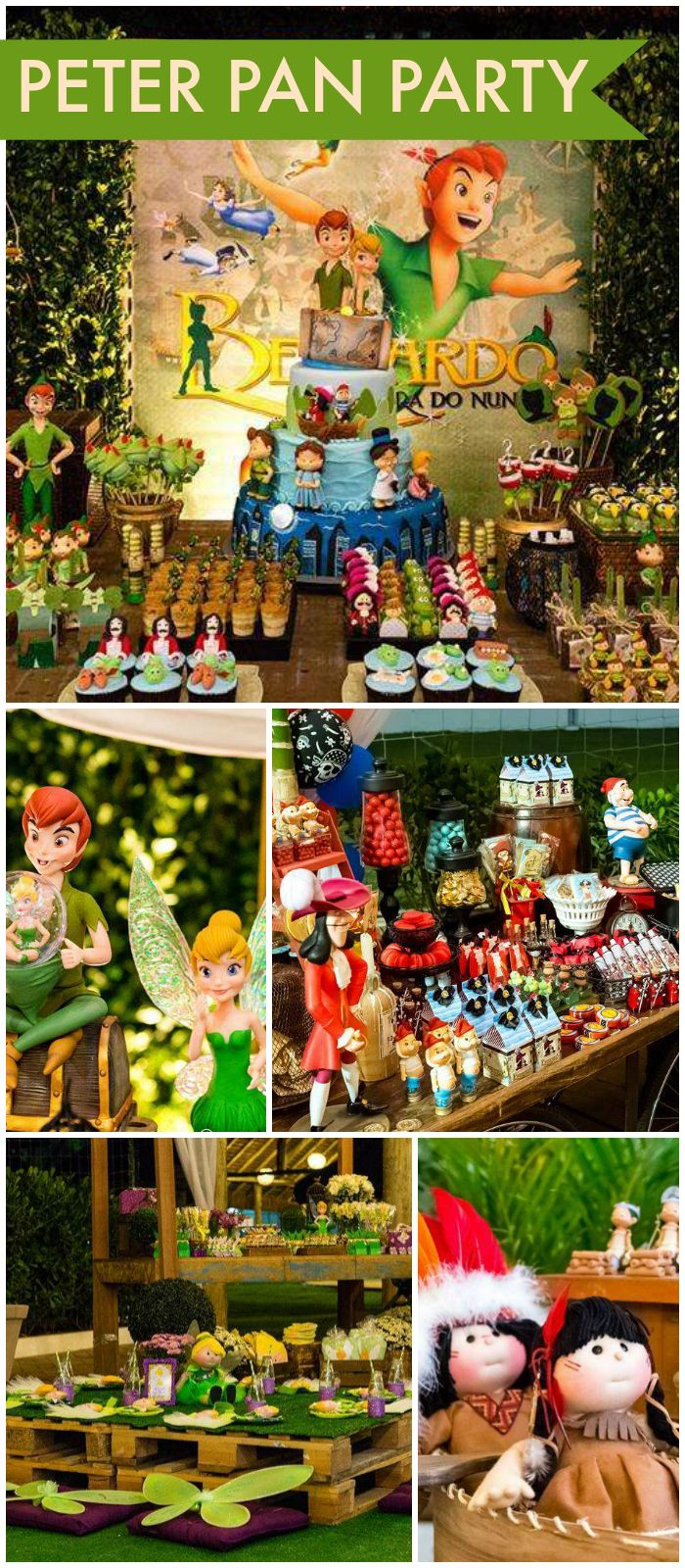 What a fantastic Peter Pan party! Amazing details! See more party ideas at CatchMyParty.com!
