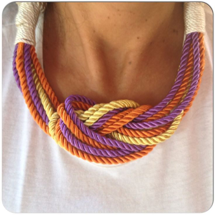 Custom made satin-rope necklace in yellow/purple/orange.. More color combinations soon on-->#thefthingCustom made satin-rope necklace in yellow/purple/orange.. More tomorrow on #thefthing #fashion #handmade #jewelry #jewels #necklace #instahub #instapic #instadaily #instaphoto #inspiration #instagrammers #creativity #blogger #style #mystyle #GOODNIGHT PEOPLE ⭐