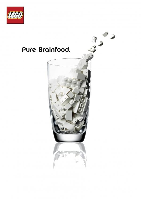 Lego, Pure brainfood. La nouvelle #ad de Lego.